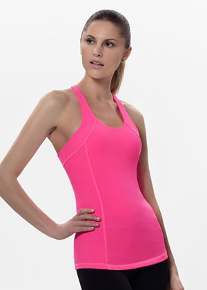 T for 2 Sports Top Pink Front